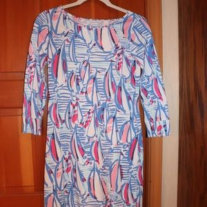 Lilly Pulitzer Marlowe Dress in Red Right Return